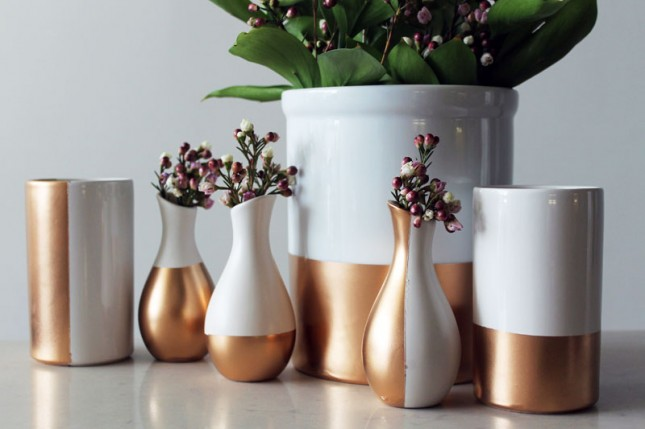 Gold-Dipped Ceramics