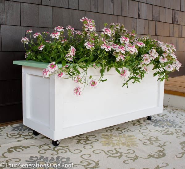 Large Planter on Wheels