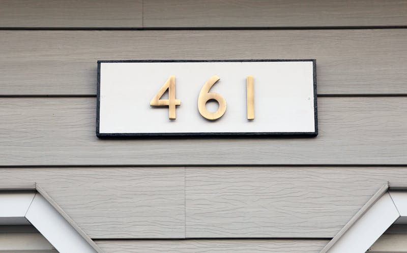 Modern Traditional House Number Plaque