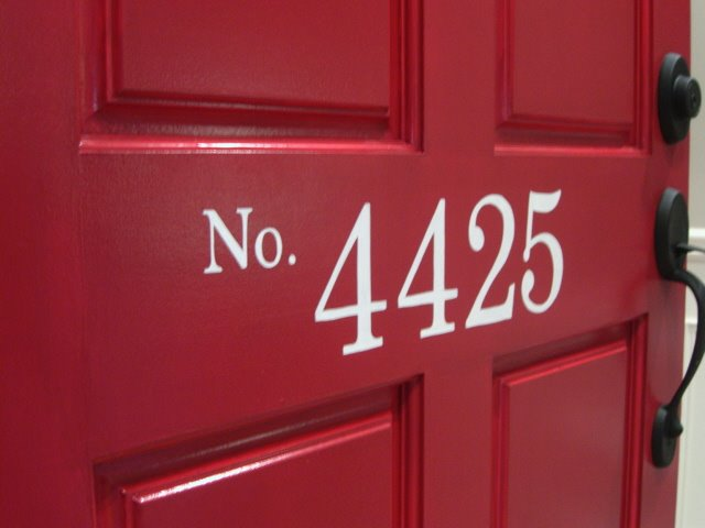 Painted Front Door Numbers