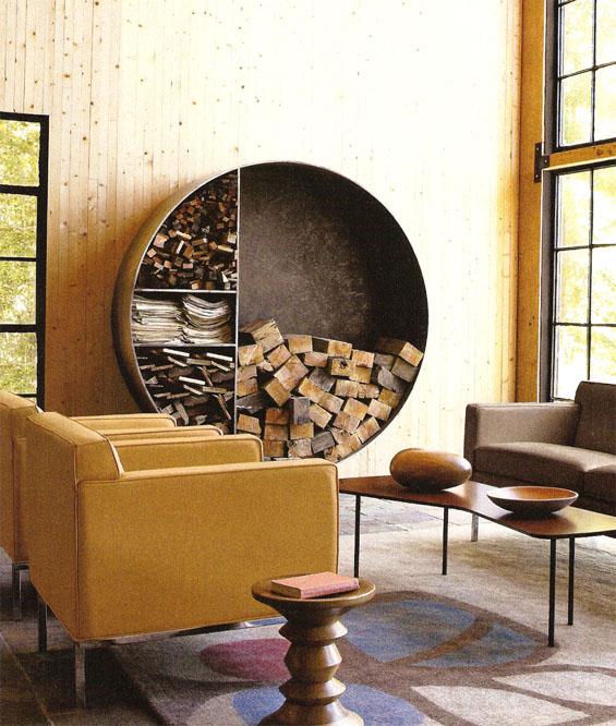 Round Firewood Storage