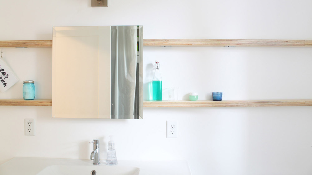 Sliding Bathroom Mirror