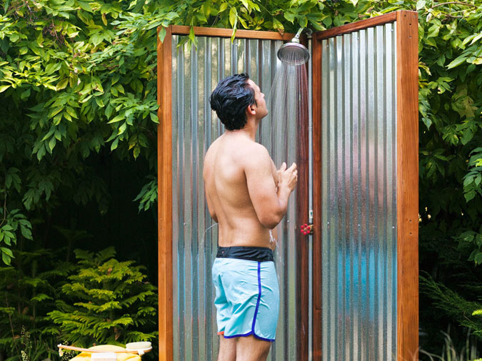 Stylish DIY Outdoor Shower