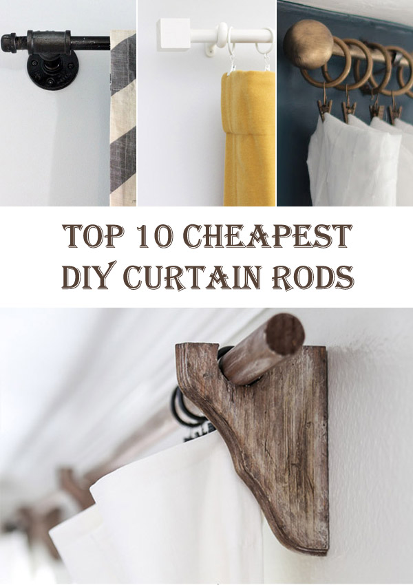 Top 10 Cheapest DIY Curtain Rods Diys To Do
