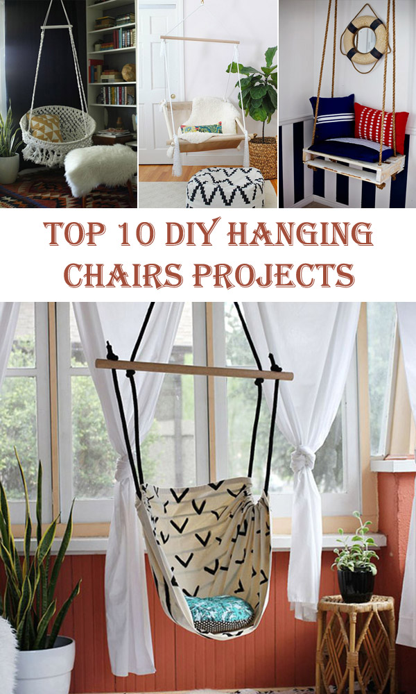 Top 10 DIY Hanging Chairs Projects