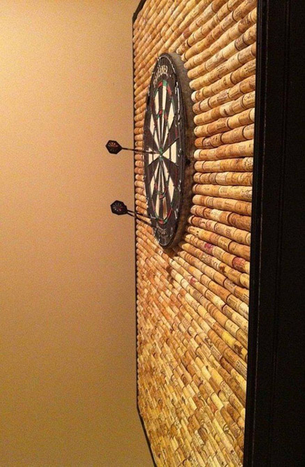 Wine Cork Dart Board Wall