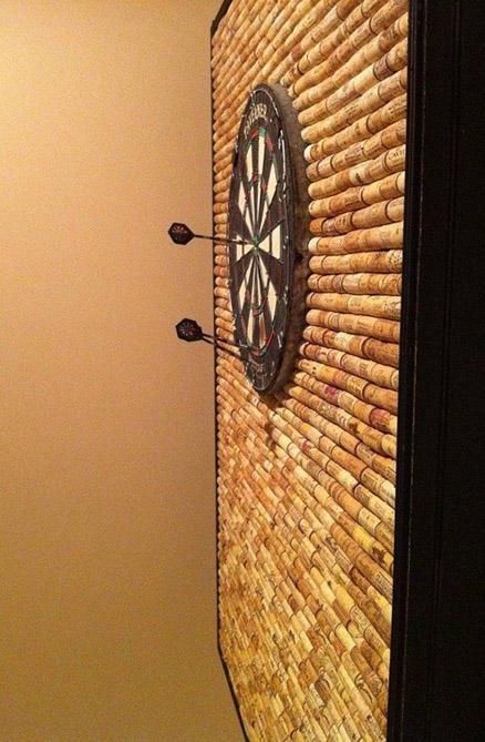 Wine Cork Dart Board Wall