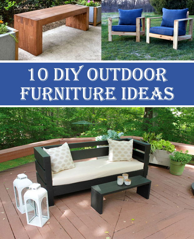 Amazing 10 Insanely Cool DIY Outdoor Furniture Ideas