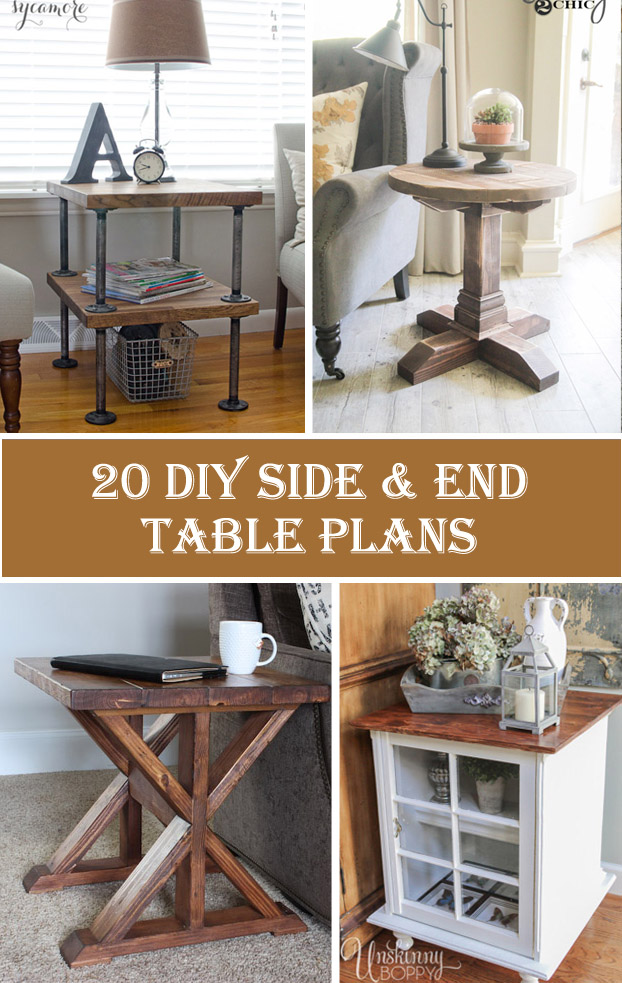 20 Stylish DIY Side U0026 End Table Plans
