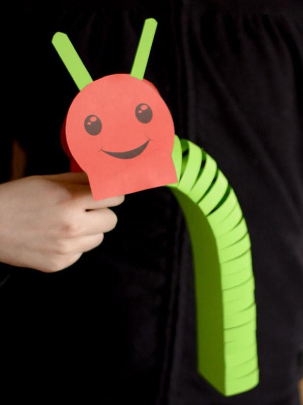 3D Paper Caterpillar Craft