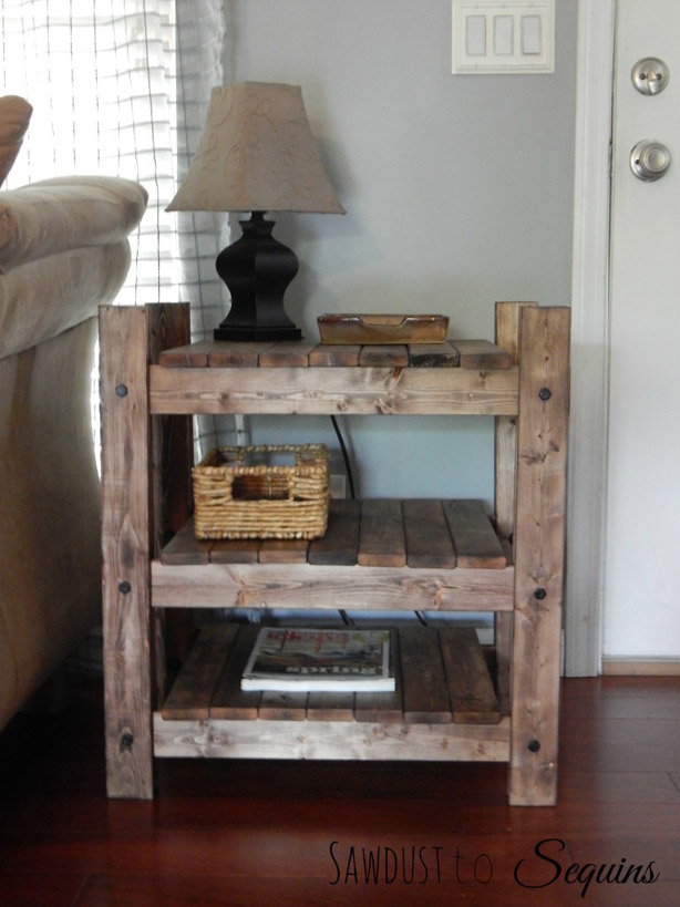 DIY Arhaus Inspired End Table