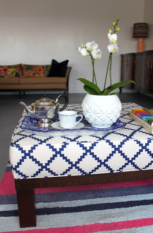 DIY Boxed Ottoman