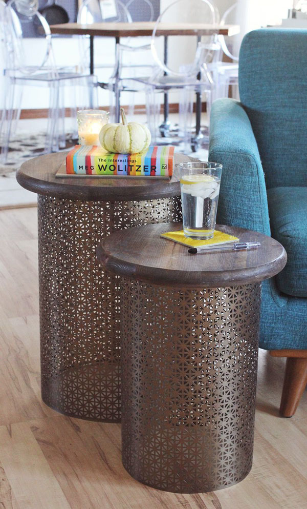 DIY Brass Side Tables