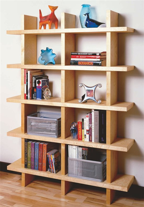 DIY Contemporary Bookcase