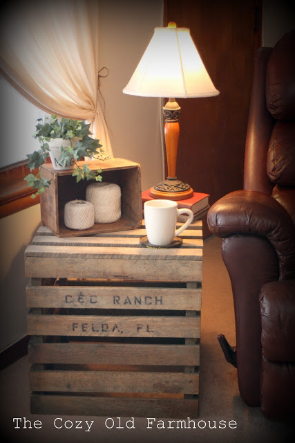DIY Crate End Table