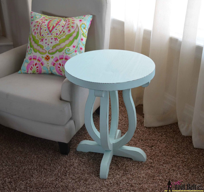 DIY Curvy Side Table