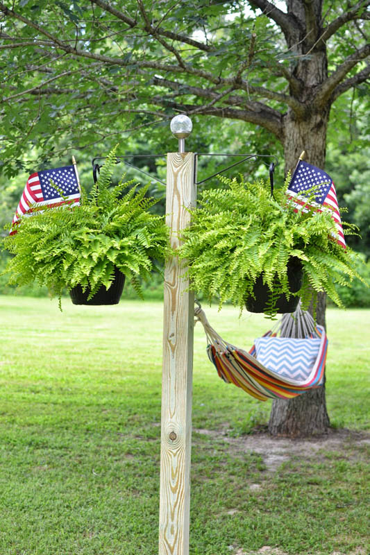 DIY Hammock Between Tree & Pole