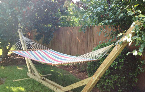 DIY Hammock Stand For $40