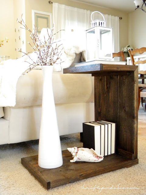 DIY Opened Side Table