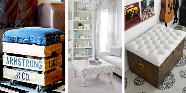 20 Creative Amp Beautiful Diy Ottoman Ideas Diys To Do