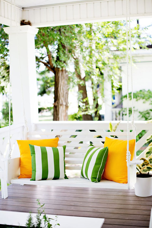 DIY Porch Swing by ABeautifulMess