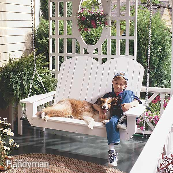 DIY Porch Swing by FamilyHandyman
