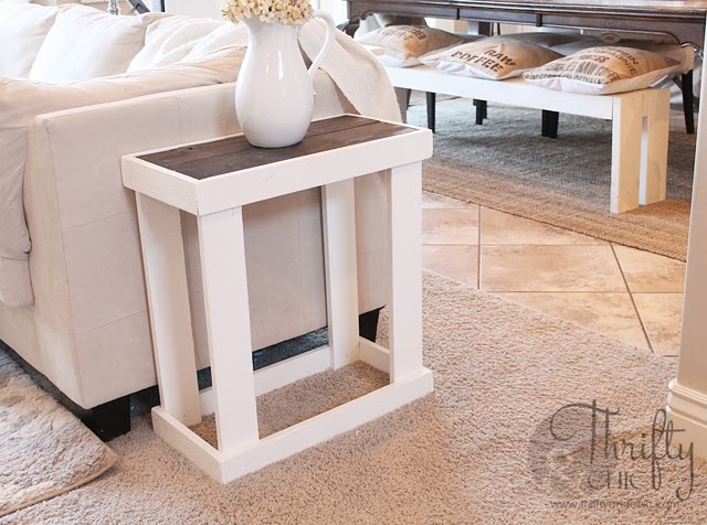 DIY Rectangle Side Table