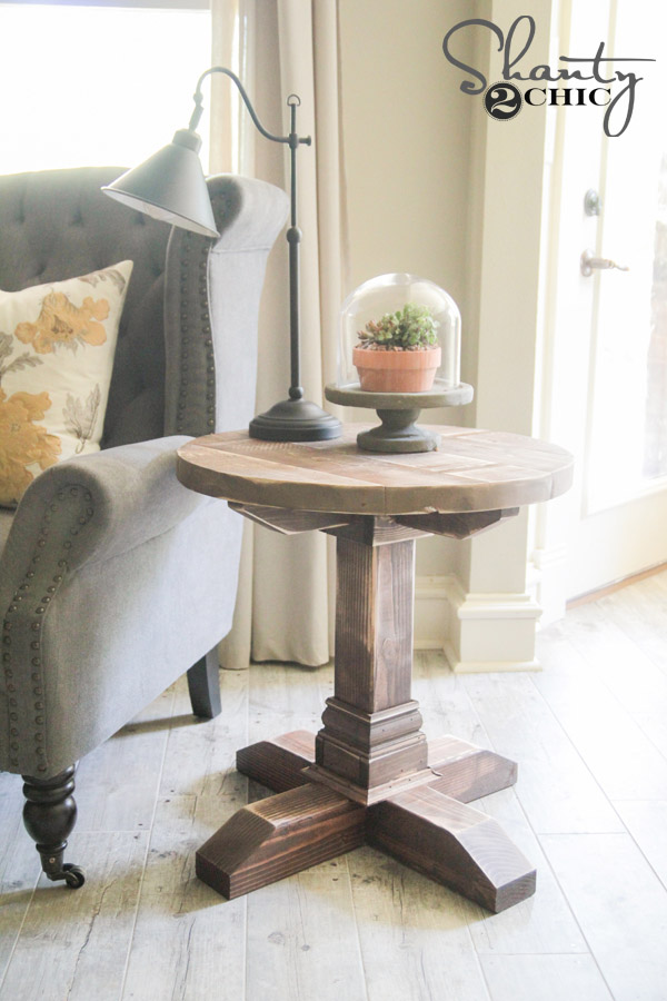 DIY Round Side Table