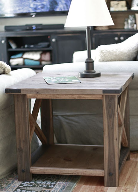 DIY Rustic X End Table