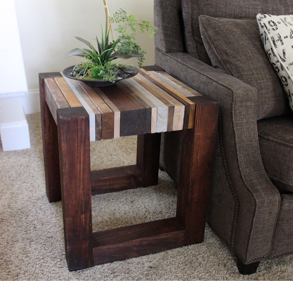 DIY Scrap Wood Side Table