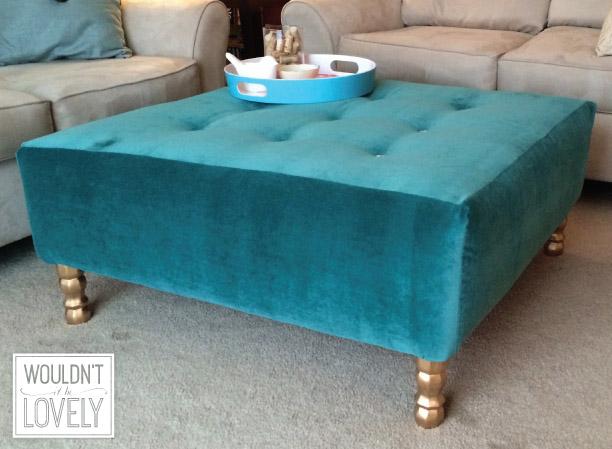 DIY Upholstered Ottoman No.2