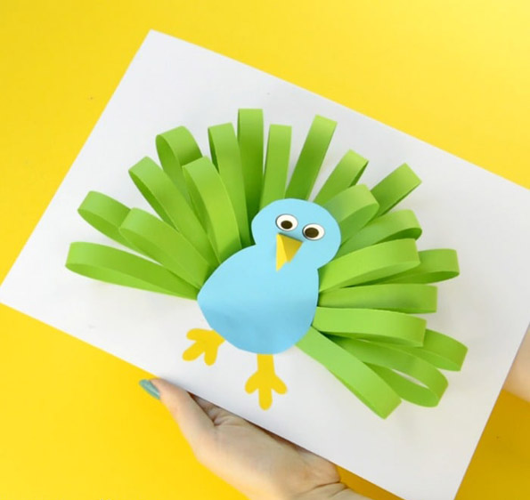 Paper Peacock Craft