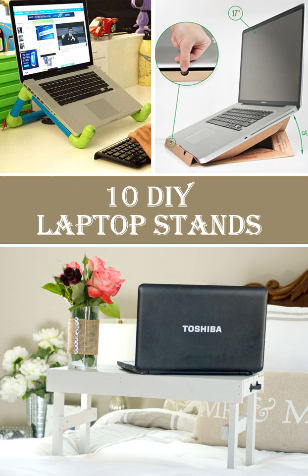 10 Cheap & Creative DIY Laptop Stands