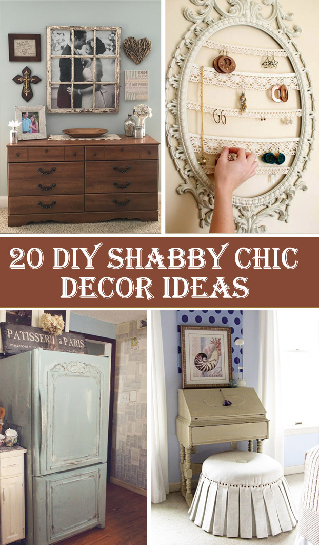 20 diy shabby chic decor ideas diys to do. Black Bedroom Furniture Sets. Home Design Ideas