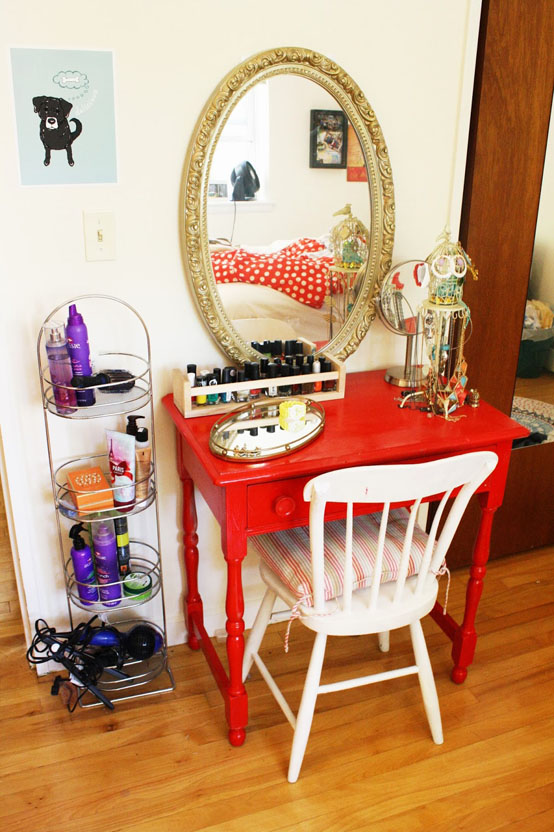fascinating Do It Yourself Dressing Table Part - 20: DIY Apartment-Sized Vanity on Budget
