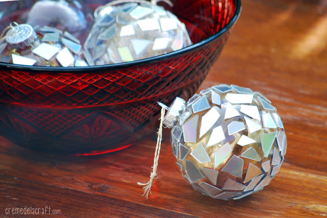 DIY Christmas Ornaments from CDs
