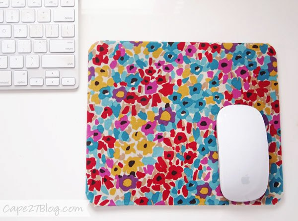 DIY Fabric-Covered Mouse Pad