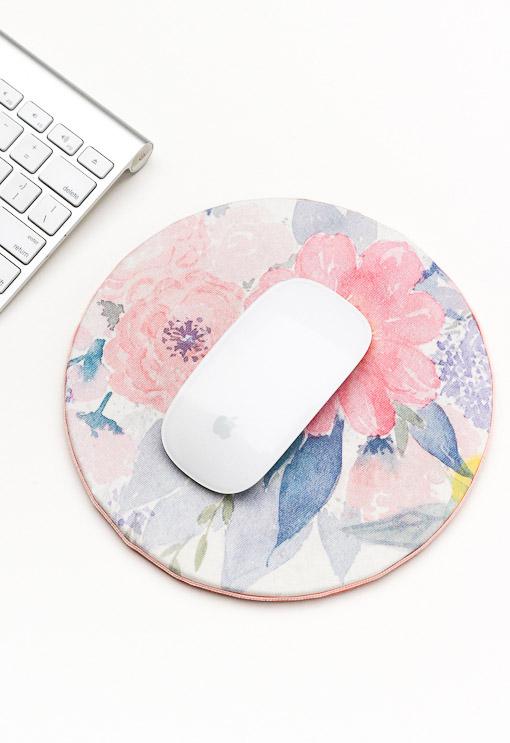 DIY Floral Mouse Pad
