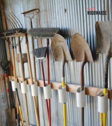 DIY Garden Tool Storage