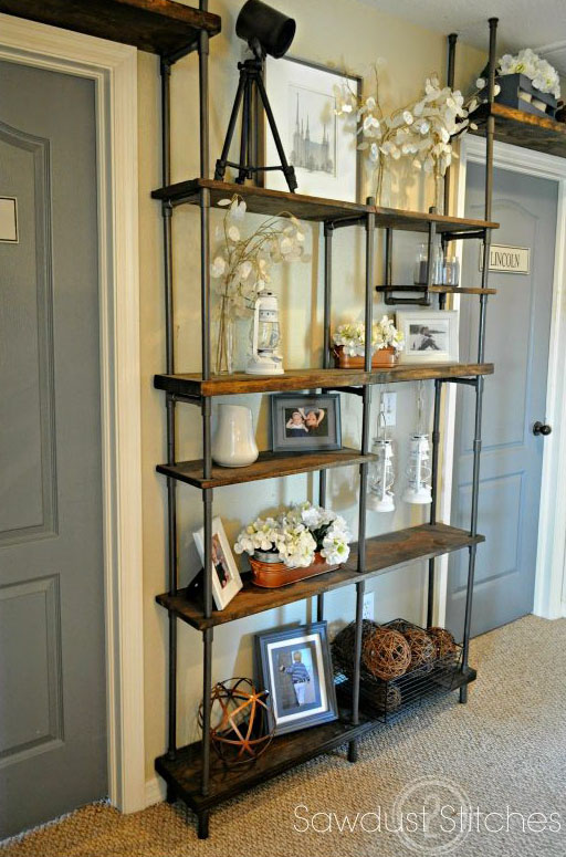 DIY Industrial Shelf Using PVC Pipe