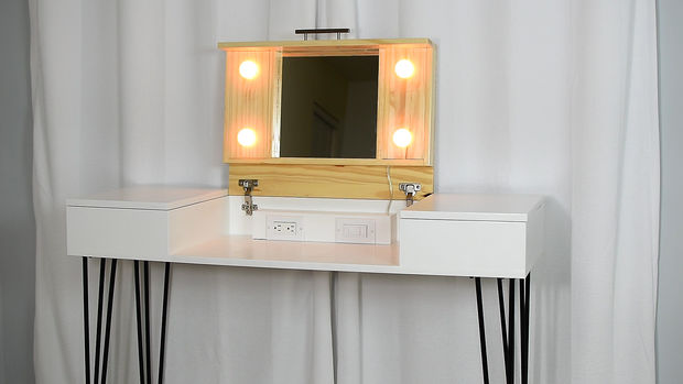 with and mirror dressing table small attractive station desk silver lights corner amazing makeup tall white sale vanity bedroom
