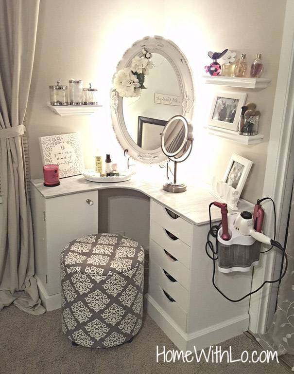 DIY Makeup Vanity by HomeWithLo