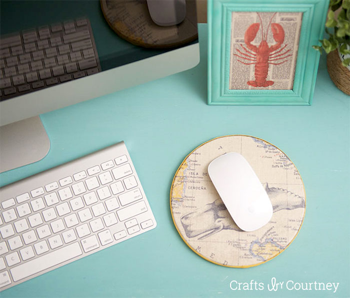 DIY Mouse Pad with Scrapbook Paper