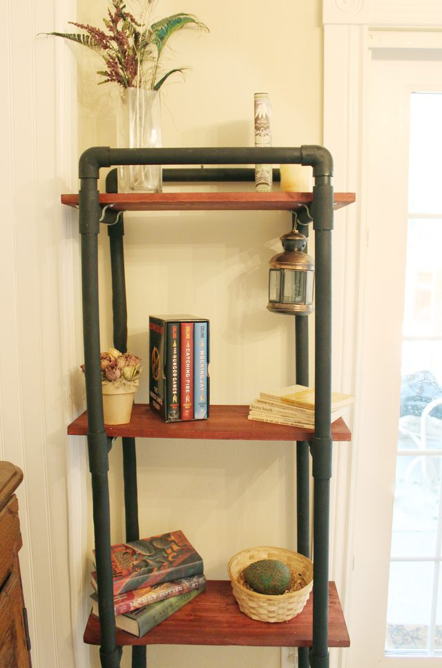 DIY PVC Book Shelves