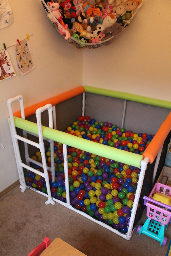 DIY PVC Pipe Ball Pit