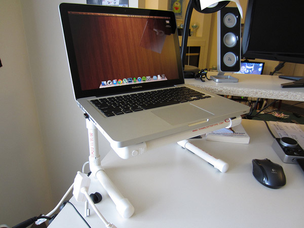 DIY PVC Pipe Laptop Stand No.2