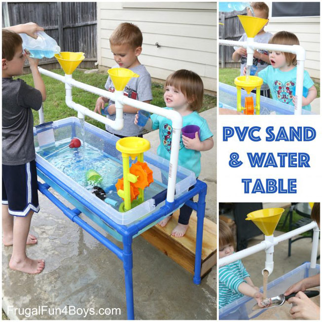 DIY PVC Sand & Water Table