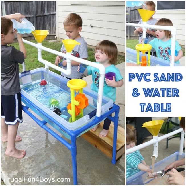 DIY PVC Sand & Water Table