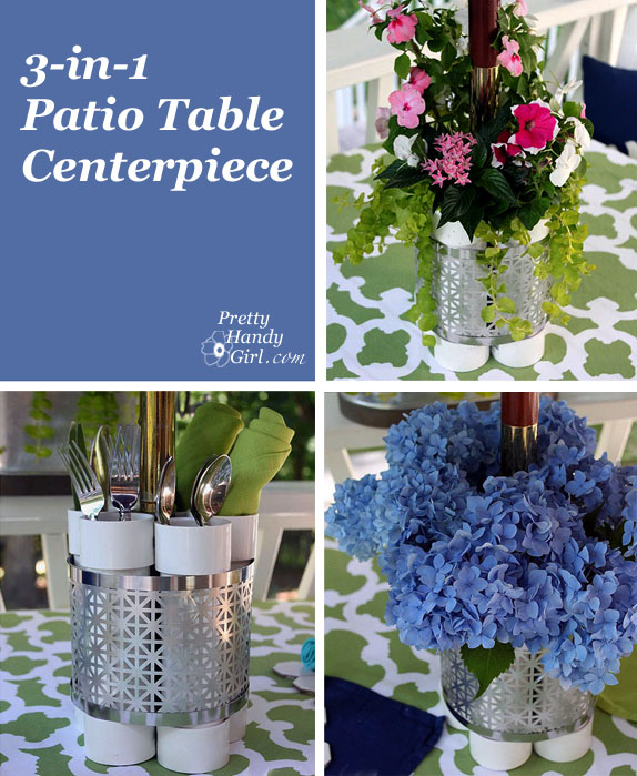 DIY Patio Table Planter, Vase & Serving Station