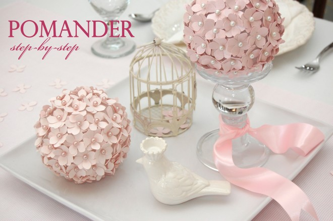 DIY Pomander Flower Ball